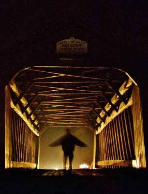 Solebury Photograph - Haunted Bridge by Greg Kear