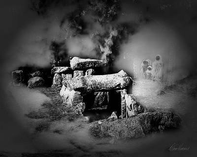 Photograph - Haunted Burial Chamber In Mist by Diana Haronis