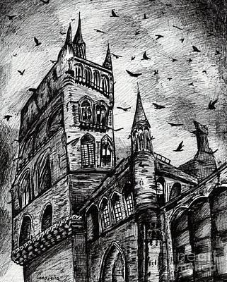 Haunted? Art Print