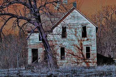 Photograph - Haunted House  by Jon Baldwin  Art