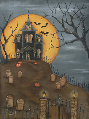 Painting - Haunted House by Kim Lewis