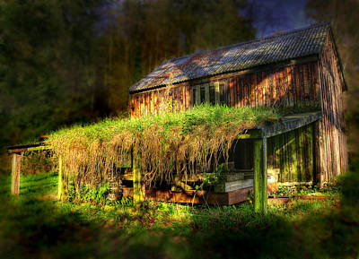 Ghostly Barn Photograph - Haunted House by Svetlana Sewell
