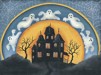 Painting - Haunted House .tif by Kim Lewis