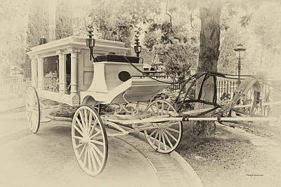 Bobsled Photograph - Haunted Mansion Hearse New Orleans Disneyland Heirloom by Thomas Woolworth