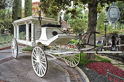 Bobsled Photograph - Haunted Mansion Hearse New Orleans Disneyland by Thomas Woolworth
