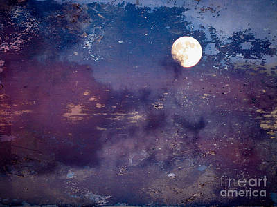 Abstract Male Faces - Haunted Moon by Roselynne Broussard