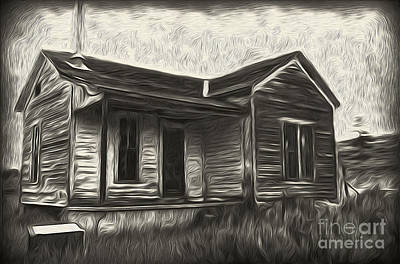 Painting - Haunted Shack - 02 by Gregory Dyer