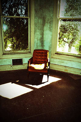 Photograph - Haunted Tower Abandoned Chair by Holly Blunkall
