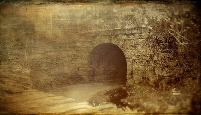Haunted Tunnel Art Print by Kathy Jennings