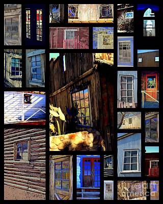 Photograph - Haunted Wild West Doors And Windows by Diane montana Jansson