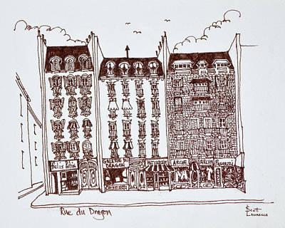 Haussmann Architecture Rue Du Dragon Art Print
