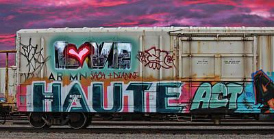 Red Heart Photograph - Haute Act   Custom Names Available by Sylvia Thornton