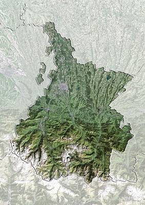Hautes-pyrenees, France, Satellite Image Art Print by Science Photo Library