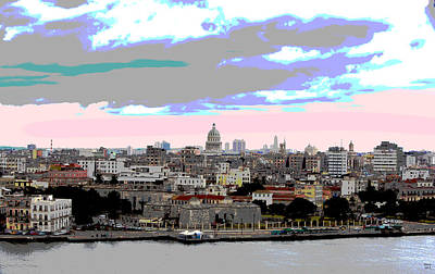 Fortress Mixed Media - Havana Cuba El Morro by Charles Shoup