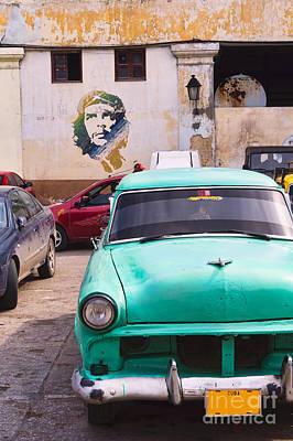 Havana Cuba Street Scene. Art Print by Frank Bach