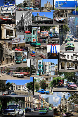 Photograph - Havana Montage by Andrew Fare
