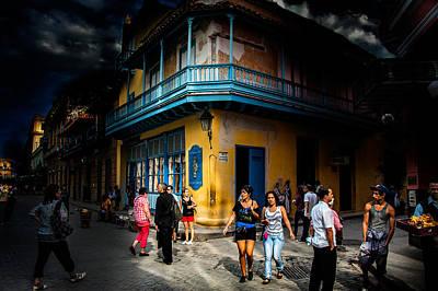 Photograph - Havana Street Corner by Patrick Boening