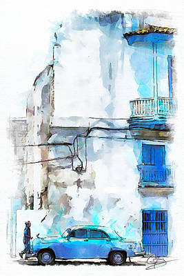 Painting - Havana Street by Greg Collins