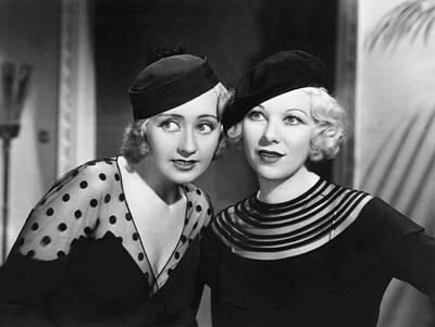 1930s Hairstyles Photograph - Havana Widows, From Left, Joan by Everett