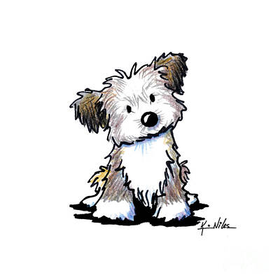 Havanese Puppy Art Print by Kim Niles