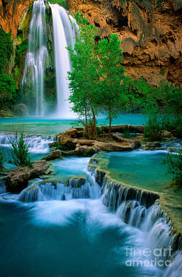 Natural Pool Photograph - Havasu Canyon by Inge Johnsson
