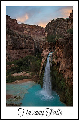 Photograph - Havasu Falls 2013  by Jim McCain