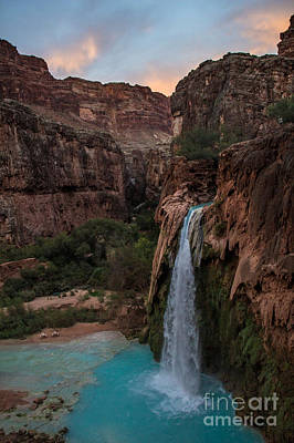 Photograph - Havasu Falls Evening Glow by Jim McCain