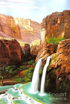 Havasu Falls Grand Canyon Art Print