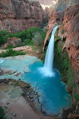 Havasu Falls Portrait Art Print by Scott Cunningham