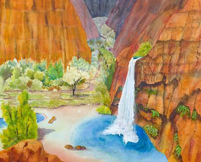 Featured Images Painting - Havasupai Vista by Melanie Harman
