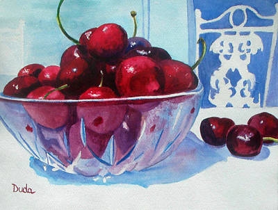 Have A Bing Cherry Go Ahead Try Em Art Print by Susan Duda