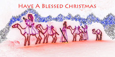 Nativity Digital Art - Have A Blessed Christmas by Marian Bell