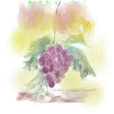 Have A Grape Day Art Print by Peggy Bosse