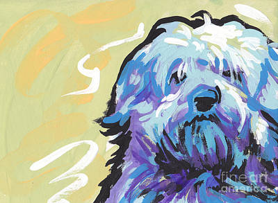 Colorful Dog Painting - Have A Neese Day by Lea S