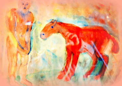 Mental Painting - You Could Always Have A Ride After All It Is Your Birthday  by Hilde Widerberg