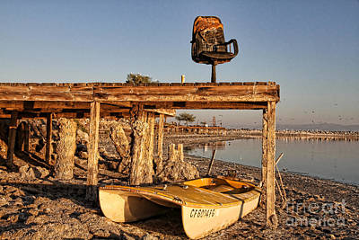 Photograph - Heated Seat At The Salton Sea By Diana Sainz by Diana Raquel Sainz