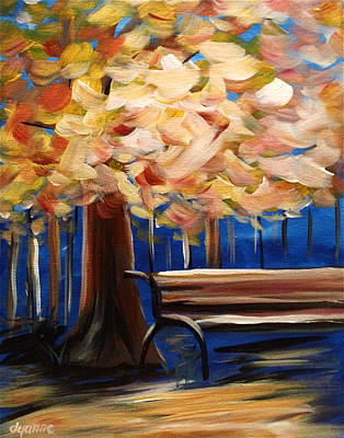 Decorative Benches Painting - Have A Seat by Dyanne Parker