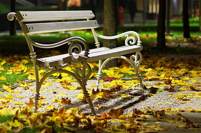 Bench Photograph - Have A Seat by Ivan Slosar