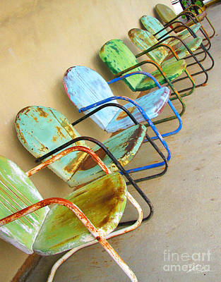 Photograph - Have A Seat Rusty Chairs by Shari Warren