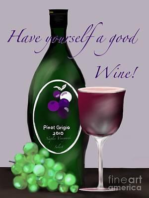Have A Wine Art Print by Christine Fournier