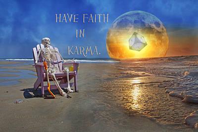 Beach Mixed Media - Have Faith in Karma by Betsy Knapp
