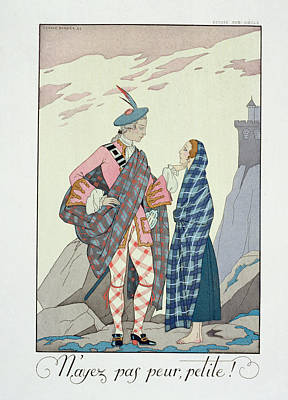 Shawl Painting - Have No Fear Little One by Georges Barbier