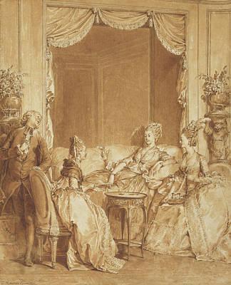 Good Friends Drawing - Have No Fear, My Good Friend Jean-michel Moreau Le Jeune by Litz Collection