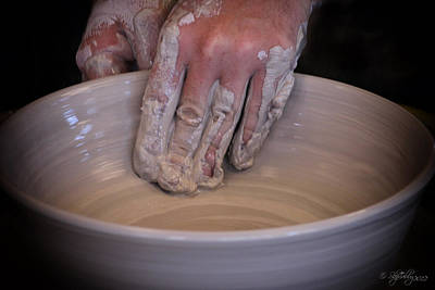 Art Print featuring the photograph The Potter by Skip Tribby