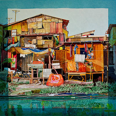 House Of Reused Building Materials Art Print by Andre Salvador