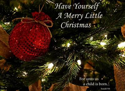 Photograph - Have Yourself A Merry Little Christmas by Deena Stoddard