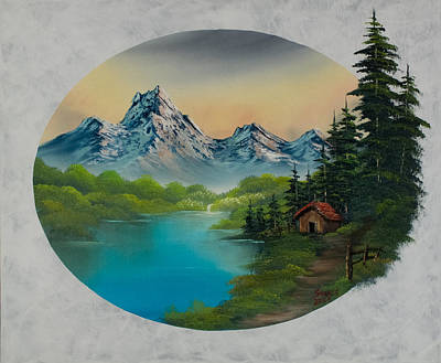 Steele Painting - Cabin In The Valley by Chris Steele