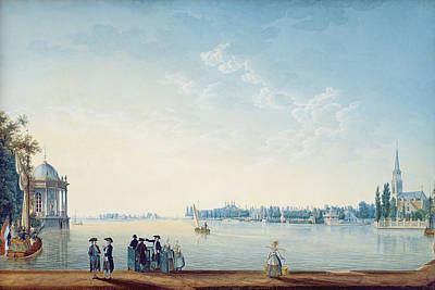 Havenrak To Broek In Waterland, Or The City Of Zwolle On The Banks Of The Ijssel In Holland, 1814 Art Print by Anton Ignaz Melling