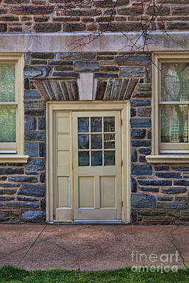 Photograph - Haverford College Door by Kay Pickens