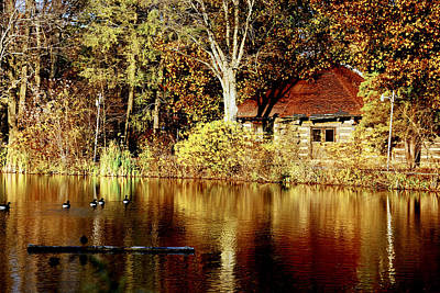 Haverford College Lake Art Print by Judy Gallagher